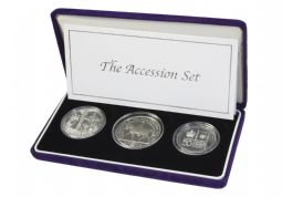 2002 The Accession Set Silver Proof 3 Coin Set